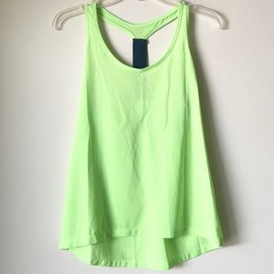 Relaxed Fit Racerback Activewear Tank Lime